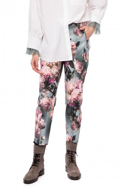 Штаны женские короткие из натурального хлопка в цветочный принт Riani