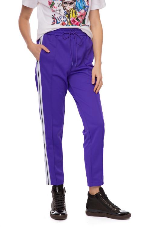 Штаны женские спортивные фиолетовые с лампасами Miss sixty