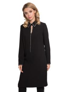 Платье женское черного цвета с длинным рукавом и стразами Steffen Schraut