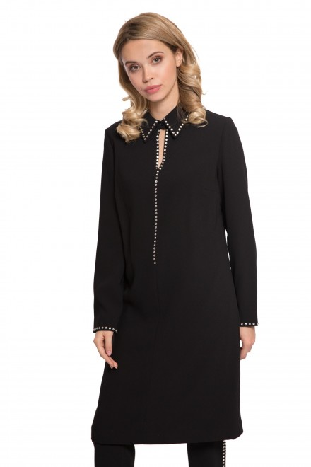 Плаття чорне зі стразами Steffen Schraut