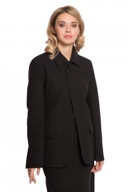 Жакет женский черный на пуговицах с широкими карманами Liviana Conti