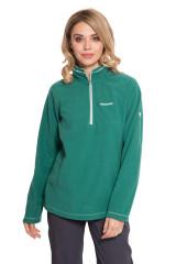 Пуловер женский зеленого цвета на укороченной молнии Craghoppers