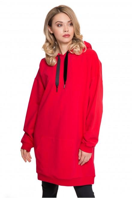 Платье красное с капюшоном UNQ