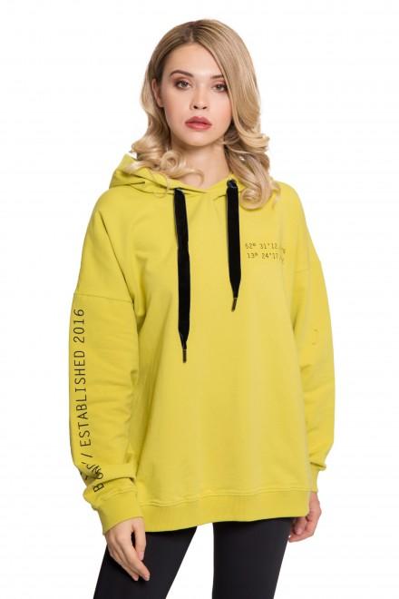 Худі жіноче жовтого кольору UNQ
