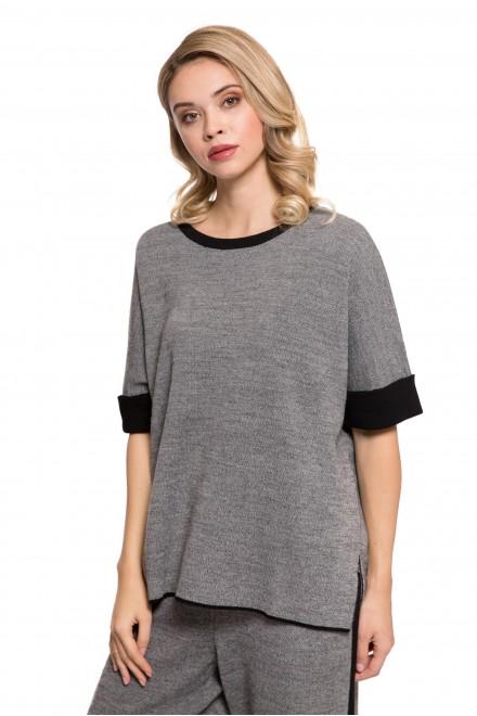 Пуловер женский с коротким рукавом UNQ