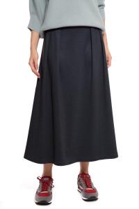 Юбка женская темно-синяя макси с высокой талией UNQ