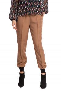Штаны женские (джоггеры) коричневого цвета на кулиске Le Coeur