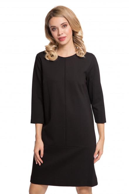 Платье женское черного цвета с четвертным рукавом Le Coeur