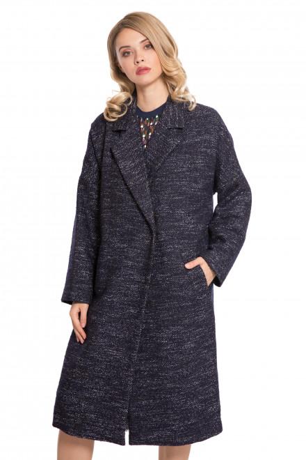 Пальто женское на запах с поясом и широкими лацканами Le Coeur
