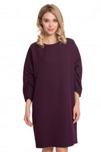 Платье женское свободного кроя с укороченными рукавами бордовое Iris Janvier