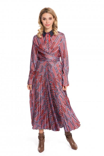 Платье женское макси с поясом и с плиссированной юбкой Beatrice