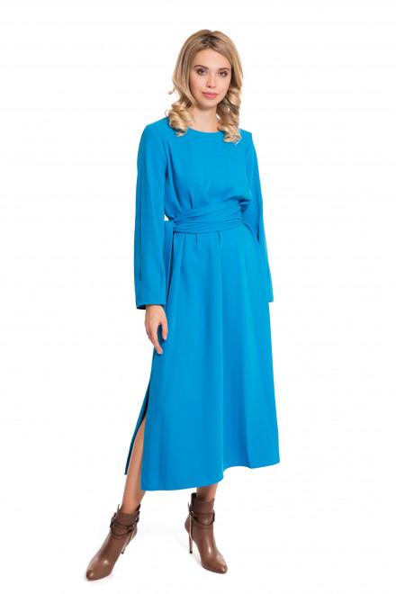 Платье с разрезами голубое Sfizio