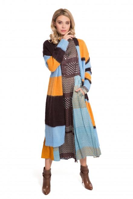 Кардиган женский длинный вязаный разноцветный Sfizio