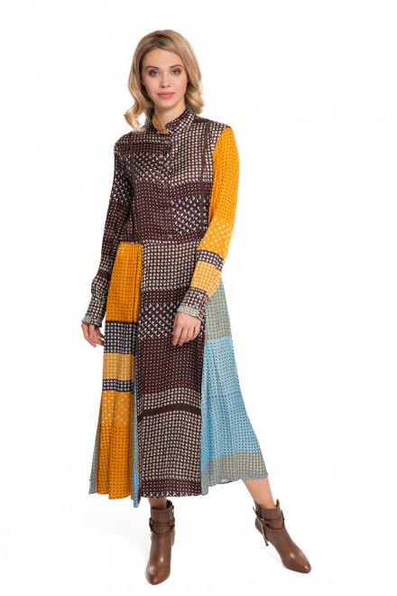 Платье женское длинное с длинным рукавом цветное Sfizio
