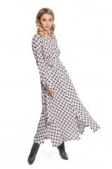 Платье серое с абстрактным принтом Riani 1