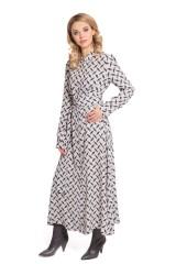 Платье серое с абстрактным принтом Riani 2