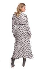 Платье серое с абстрактным принтом Riani 3