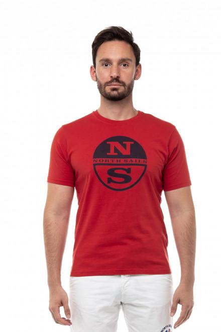 Футболка мужская с коротким рукавом красная хлопковая North Sails