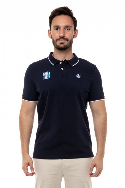 Поло мужское темно-синего цвета с логотипом North  Sails