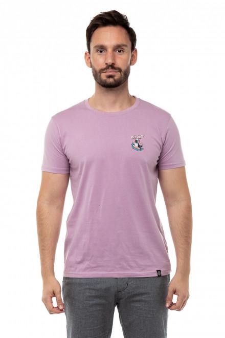 Футболка мужская пурпурного цвета с фламинго Shine Original