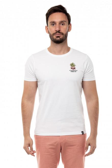 Футболка мужская белая с вышивкой Pineapple For life Shine Original