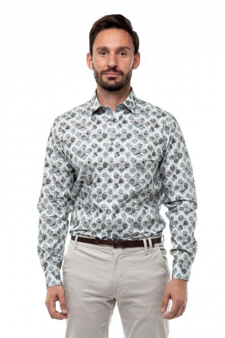 Рубашка мужская в цветочный принт Lindbergh