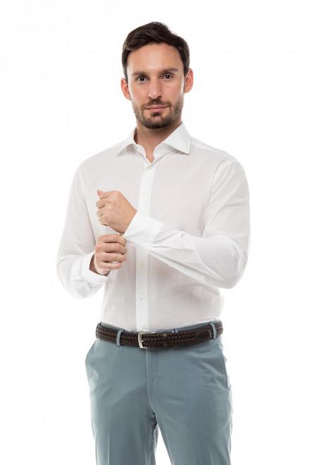 Рубашка мужская белая однотонная с длинным рукавом Van Laack