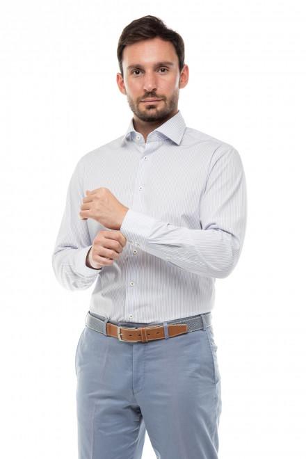 Рубашка мужская белая в тонкую полоску с длинным рукавом Van Laack