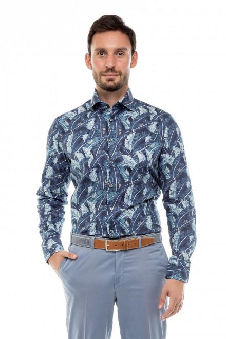 Рубашка мужская с длинным рукавом синяя Van Laack