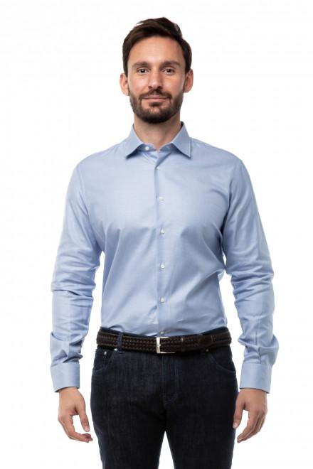 Рубашка мужская с длинным рукавом голубого цвета Delsiena