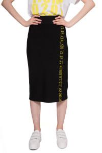 Юбка женская черная с символикой UNQ