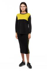 Пуловер женский черного цвета оверсайз UNQ 4