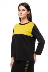 Пуловер женский черного цвета оверсайз UNQ 1