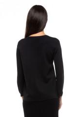 Пуловер женский черного цвета оверсайз UNQ 2