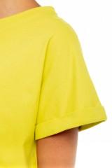 Футболка желтая хлопковая UNQ 2