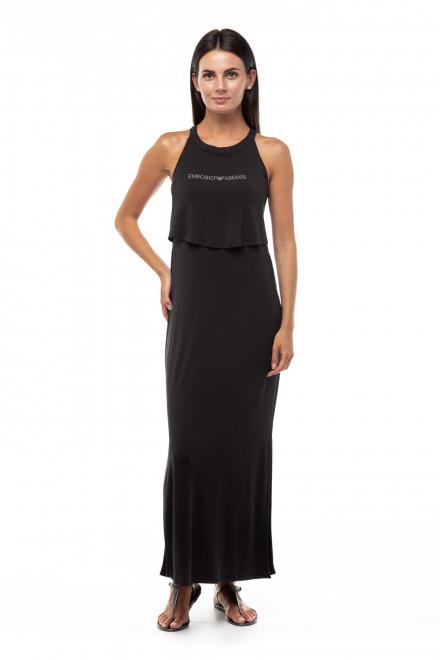 Платье пляжное в чёрном цвете Emporio Armani