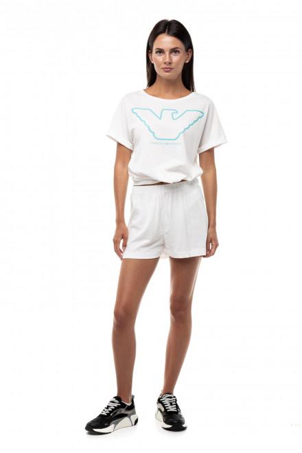 Пижама из органического хлопка с логотипом в виде орла Emporio Armani
