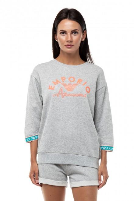 Пуловер из хлопкового трикотажа Emporio Armani