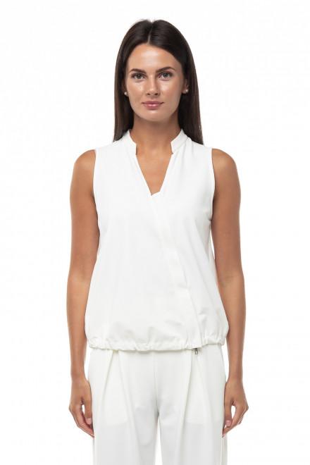 Блуза женская белая с косой молнией Ania Schierholt