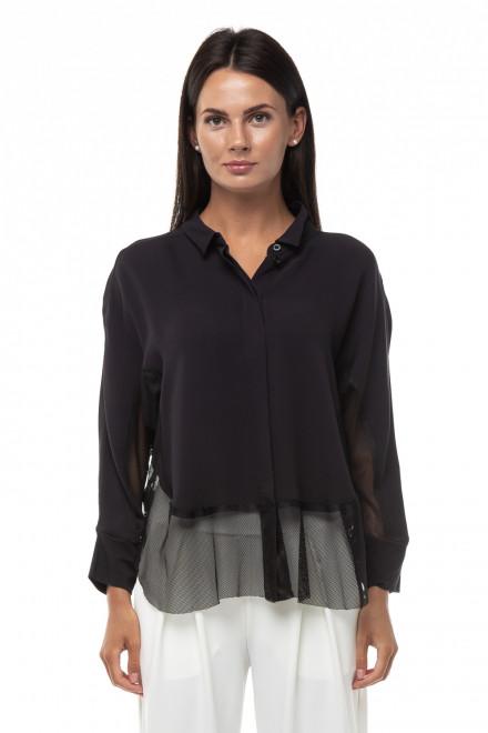 Блуза женская черная полупрозрачная Ania Schierholt