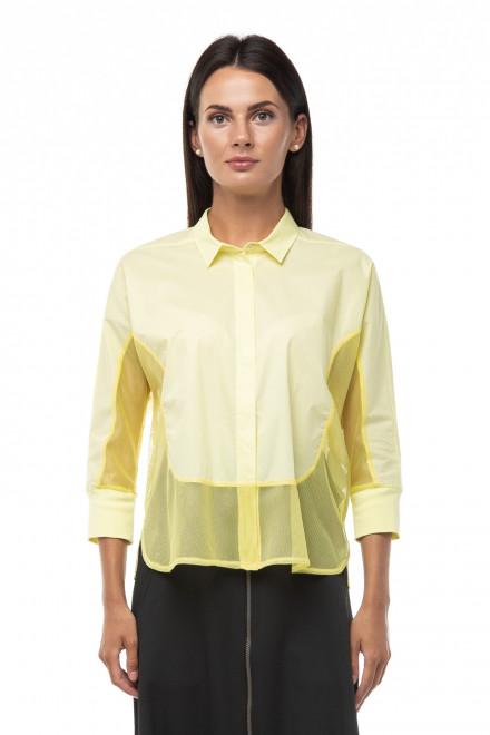 Блуза женская желтая полупрозрачная с рукавом 3/4 Ania Schierholt
