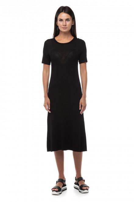 Платье черное с коротким рукавом Miss Sixty
