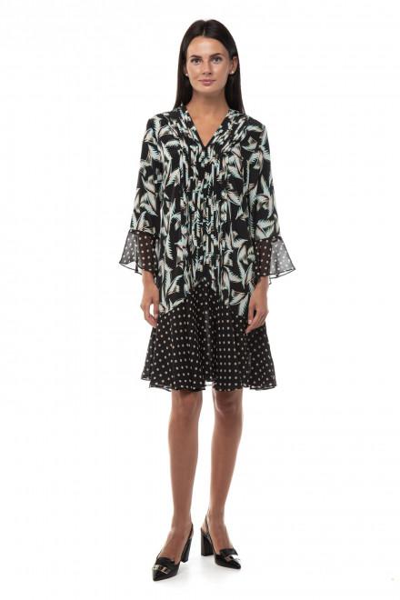 Платье женское черного цвета в комбинированный принт Steffen Schraut