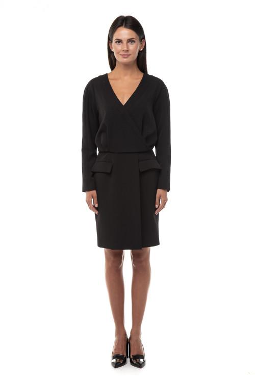 Платье черное на запах Iris Janvier