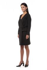 Платье черное на запах Iris Janvier 1