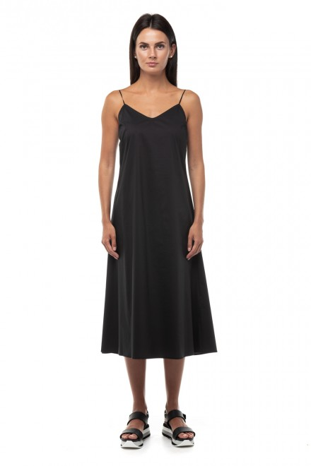 Платье черное на бретелях Liviana Conti