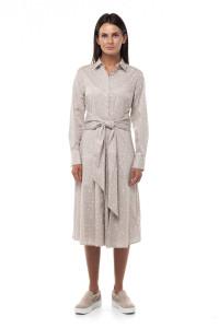Платье серое с микро принтом Repeat