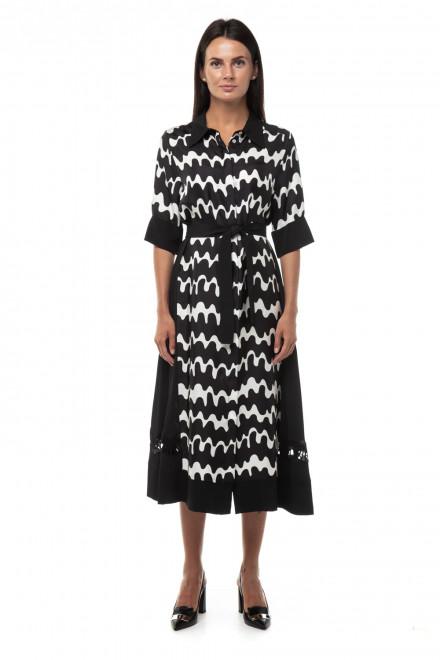 Платье с принтом «волны» и с шелковыми вставками Beatrice