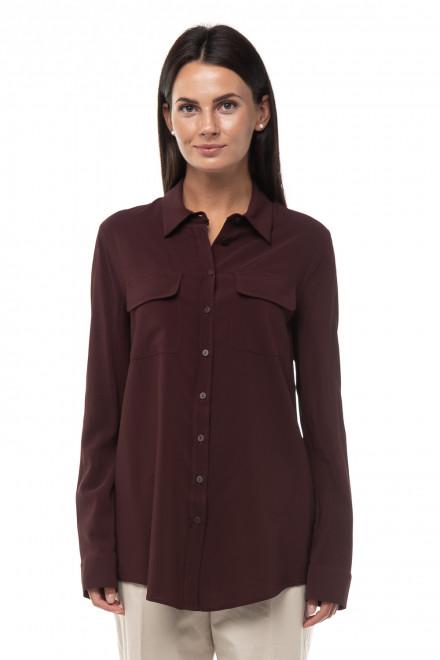 Рубашка из эластичного крепа с накладными карманами Liviana Conti