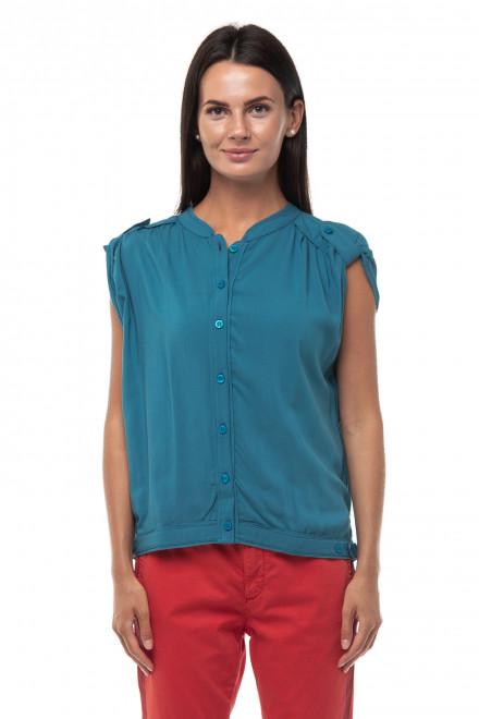 Блуза женская на пуговицах с коротким рукавом Blauer